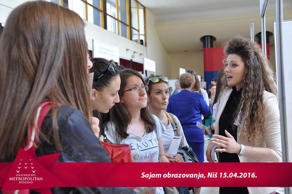 Univerzitet Metropolitan na 9. Sajmu obrazovanja u Nišu
