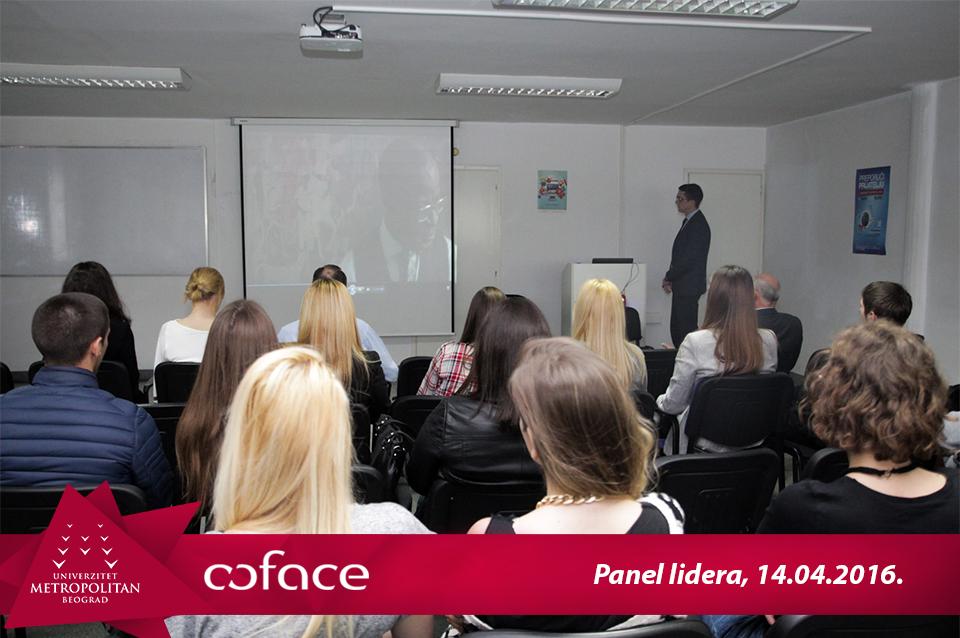 """Gostujuće predavanja """"Panel lidera"""" – Đorđe Živanović, Coface Srbija d.o.o."""