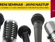 Otvoreni seminar – Javni nastup na Univerzitetu Metropolitan u Nišu