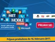 """PRIJAVE ZA TAKMIČENJE """"MET MOBILE CHALLENGE"""" PRODUŽENE DO 16. FEBRUARA 2017."""