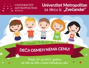 """Univerzitet Metropolitan za decu iz """"Zvečanske"""" – Dečji osmeh nema cenu!"""