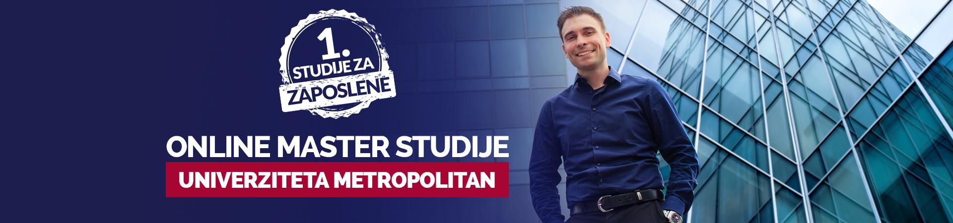 Master studije - Univerzitet Metropolitan