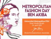 Još jedan fashion day za studente Modnog dizajna Univerzitet Metropolitan