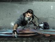 Sjajni street art umetnik – Artez na Univerzitetu Metropolitan