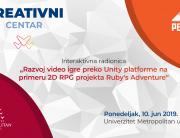 "Interaktivna radionica ""Razvoj video igre preko Unity platforme na primeru 2D RPG projekta Ruby's Adventure"""