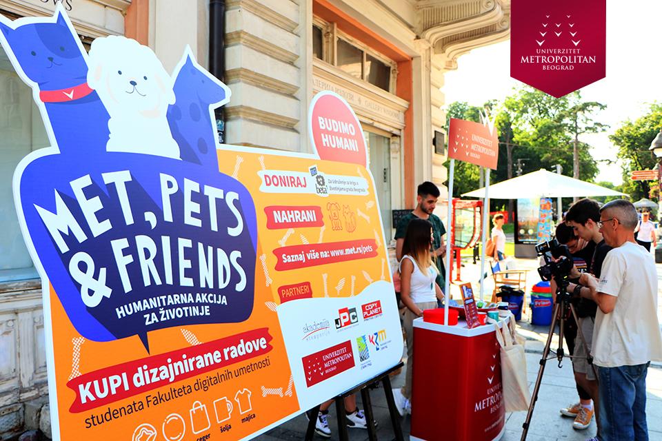 """Humanitarna akcija AA i Univerziteta Metropolitan za Udruženje """"BETA BEOGRAD"""" – MET, Pets & Friends"""