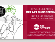 MET Art Shop – kreativni koncept store Univerziteta Metropolitan